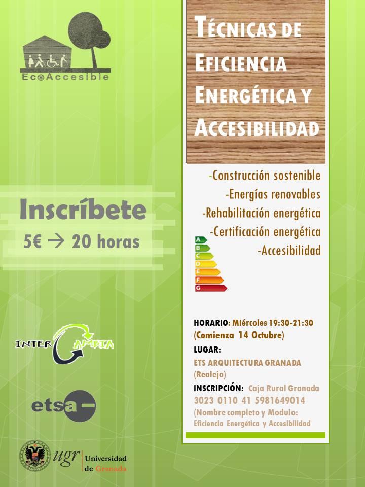 Curso Técnicas De Eficiencia Energética y Accesibilidad